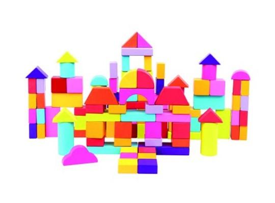 Kostky stavební barevné