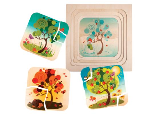Puzzle dřevěné vícevrstvé-strom