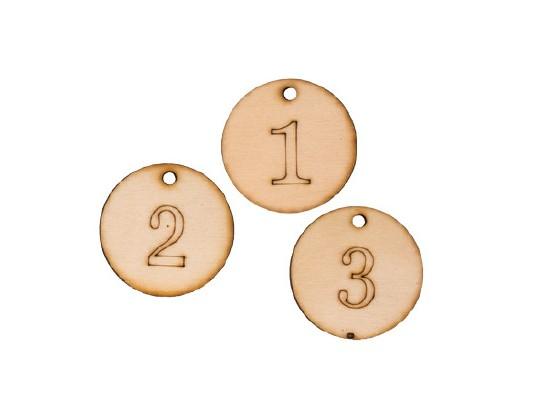 Medaile dřevěná-čísla