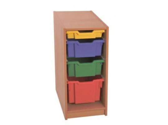 Skříň spodní-4 boxy-dekor buk