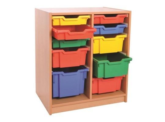 Skříň spodní-10 boxů-dekor buk