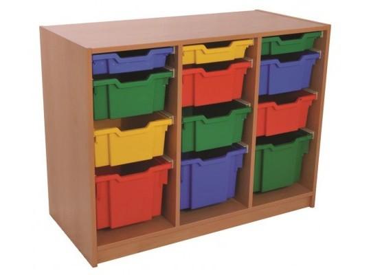 Skříň spodní-12 boxů-dekor buk