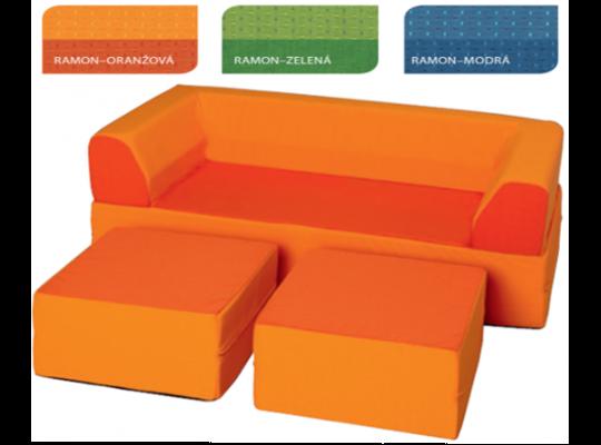 Sedací souprava Vario Ramon-oranžová