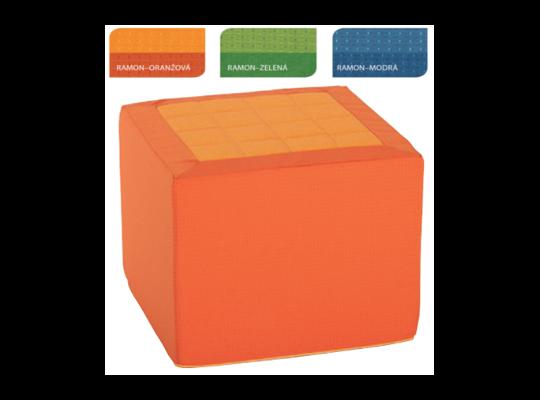 Sedací kostka Vario-oranžová