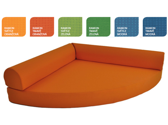 Relaxační sedací kout Ramon tmavě oranžový