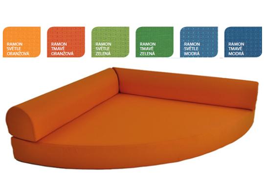 Relaxační sedací kout Ramon světle oranžový