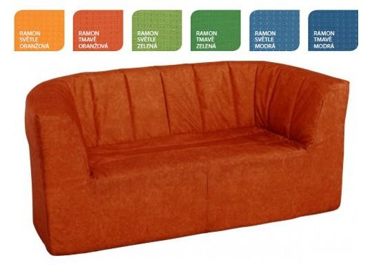 Dvojkřeslo Ramon-tmavě oranžový