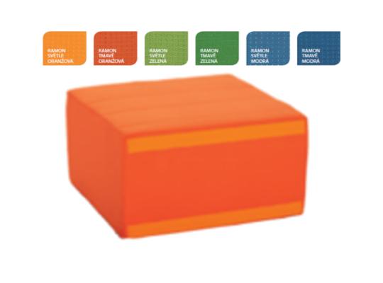 Sedací souprava čtvercová část bez opěradla-světle oranžová