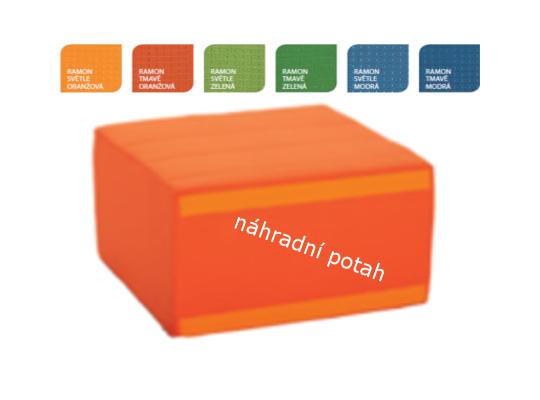 Část bez opěradla náhradní potah-tmavě oranžový