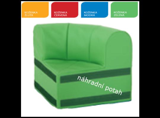 Výseč s opěradlem náhradní potah zelený
