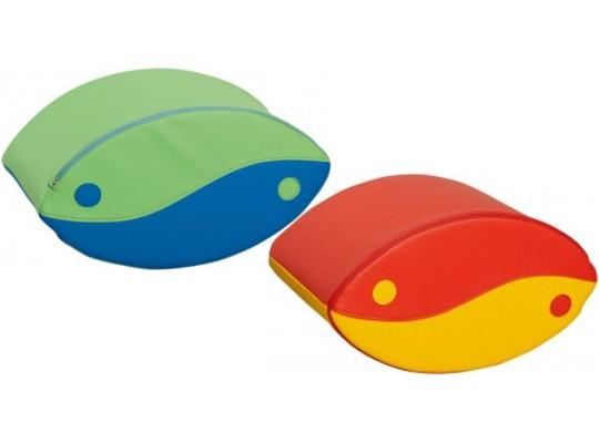Blok houpací-malý zelený/modrý