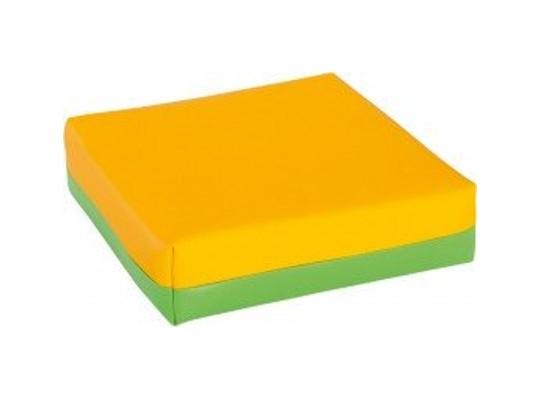 Polštářek sedací-žlutý/zelený