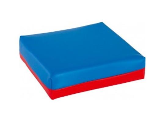 Polštářek sedací-modrý/červený