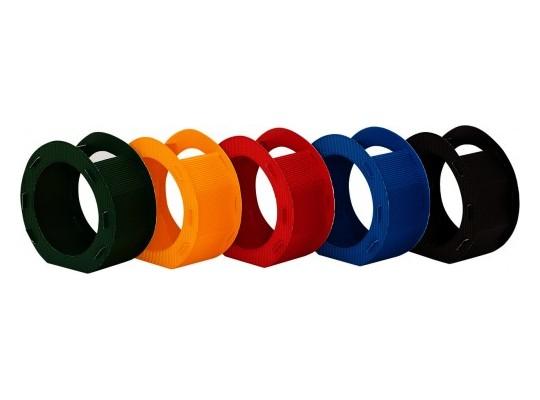 Lampion z lepenky vlnité-kruh-barevný