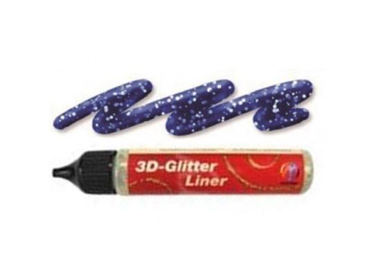 Barva třpytivá 3D glitter liner modrá