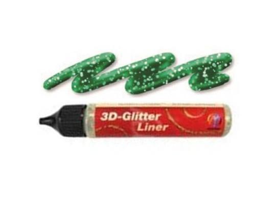 Barva třpytivá 3D glitter liner zelená
