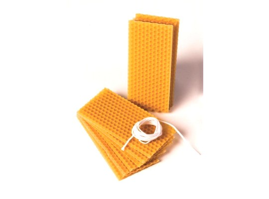 Vosk včelí-sada na výrobu svíček-plátky malé