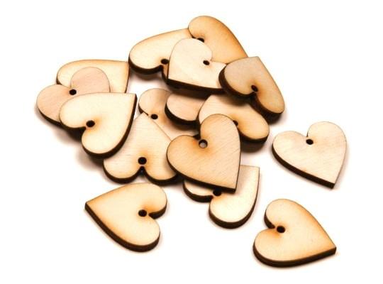 Srdíčka dřevěná