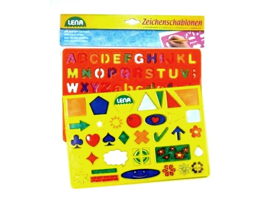 Šablona plast abeceda/tvary