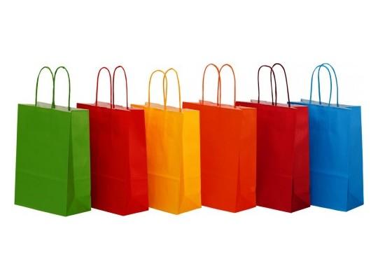 Taška z papíru barevná-velká sada