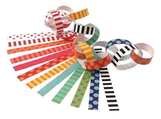 Proužky papírové dekorační