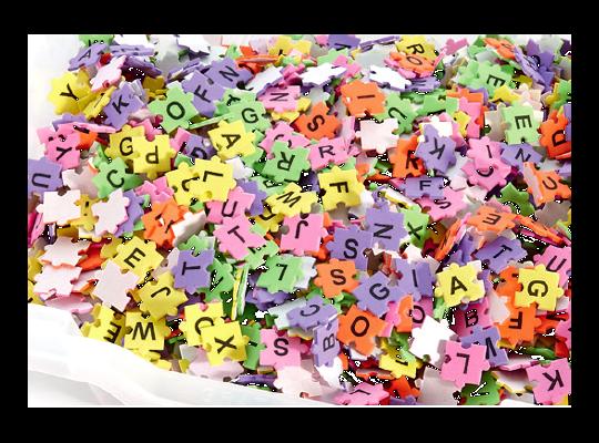 Pěnovka moosgummi samolepicí-písmena puzzle