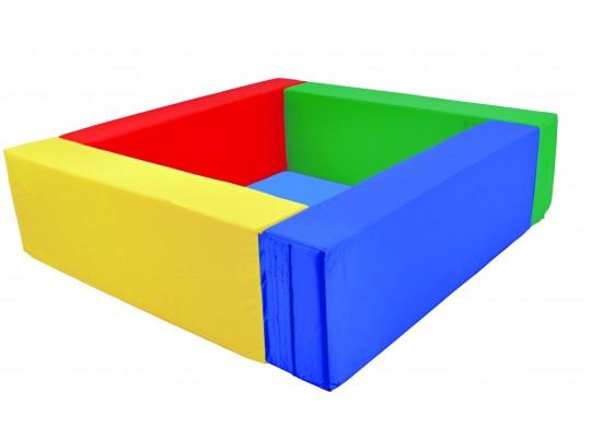 Bazén čtvercový barevný-koženka
