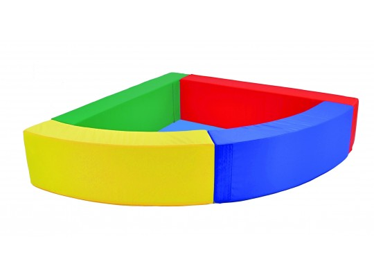 Bazén rohový barevný-koženka