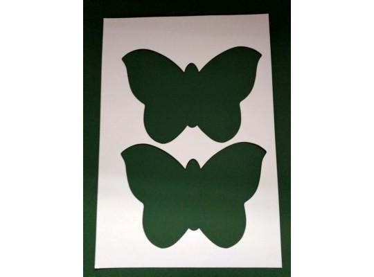 Šablona z lepenky motýl-sada