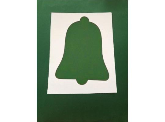 Šablona z lepenky zvoneček-sada