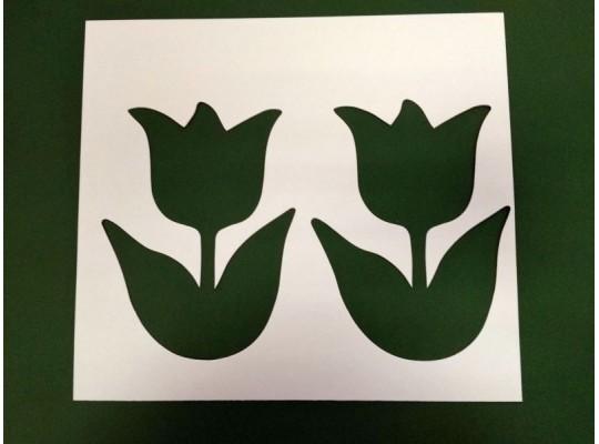 Šablona z lepenky tulipán-sada