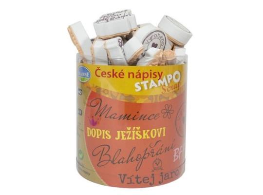 Razítka Stampo nápisy české