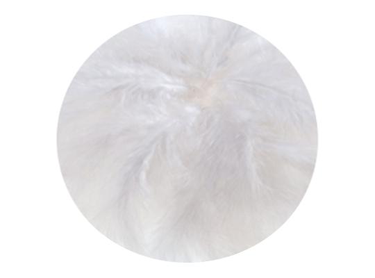 Peří dekorační jemné-bílé