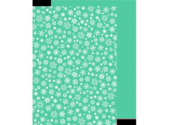 Karton vločky bílé-tyrkysový