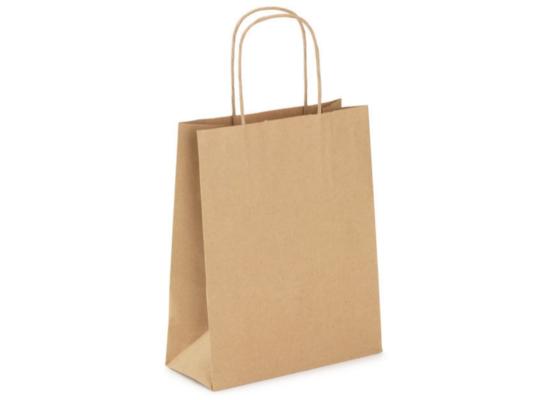 Taška z papíru přírodní-velká