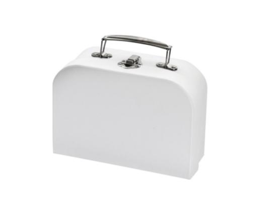 Kufřík z papíru bílý