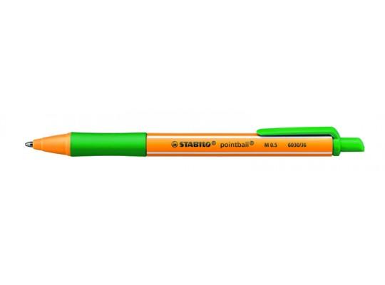 Pero kuličkové Stabilo Pointball-zelené