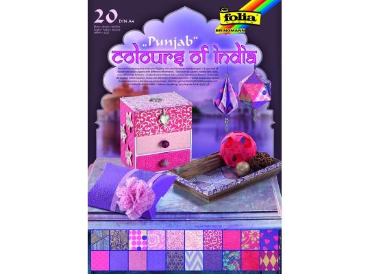 Blok barvy Indie-fialový/růžový