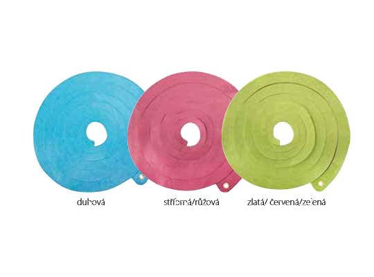 Girlanda papírová-zlatá/červená/zelená