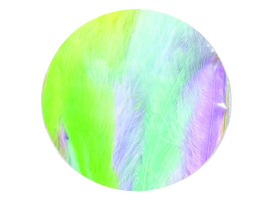 Peří dekorační jemné-pastelové