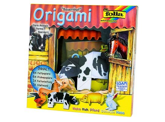 Origami zvířátka na statku-sada