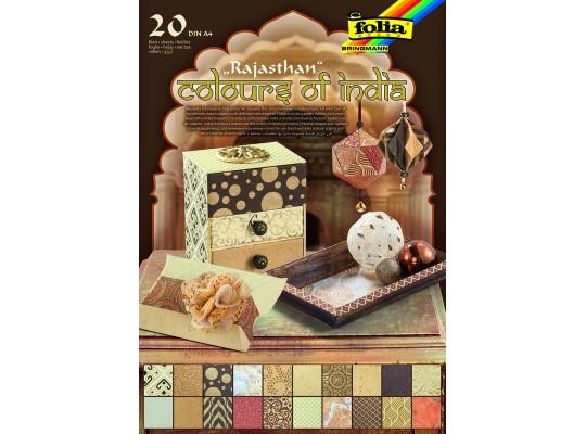 Blok barvy Indie-béžový/hnědý