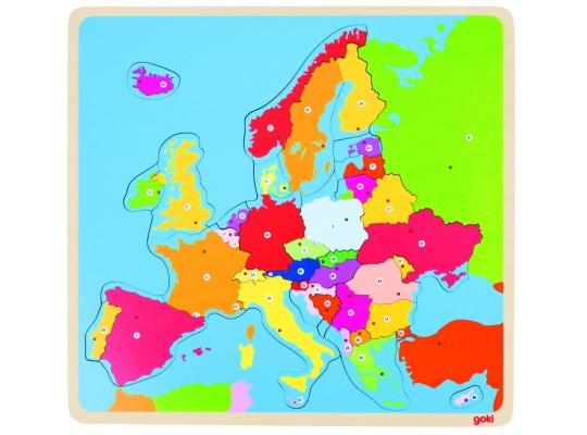 Puzzle dřevěné-Evropa