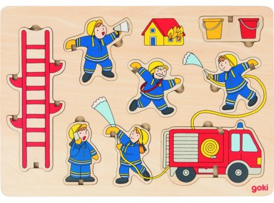 Puzzle dřevěné-hasiči