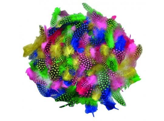 Peří dekorační kropenaté