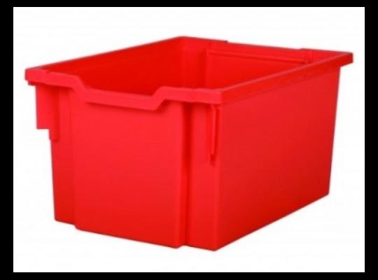 Box plastový 30 l-červený