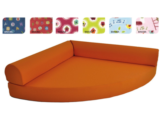 Relaxační sedací kout bavlna abeceda-červená