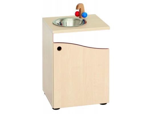 Prvek herní-Kuchyň dětská-dřez-40x55x38cm-dveře pravé-dekor buk