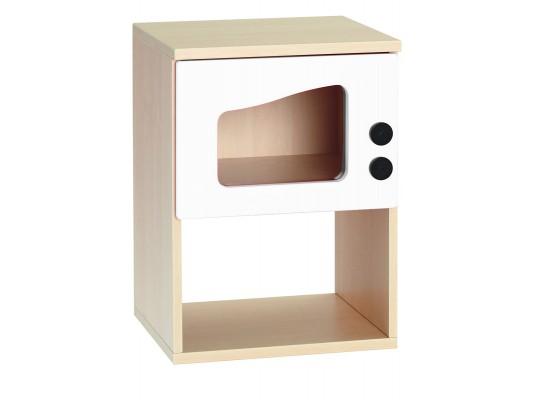 Prvek herní-Kuchyň dětská-trouba mikrovlnná-40x54x38cm-dekor bříza