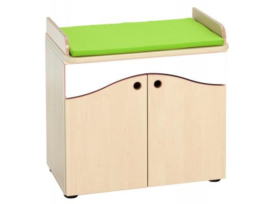 Prvek herní-Kuchyň dětská-deska přebalovací s podložkou-65x8x42cm-dekor buk